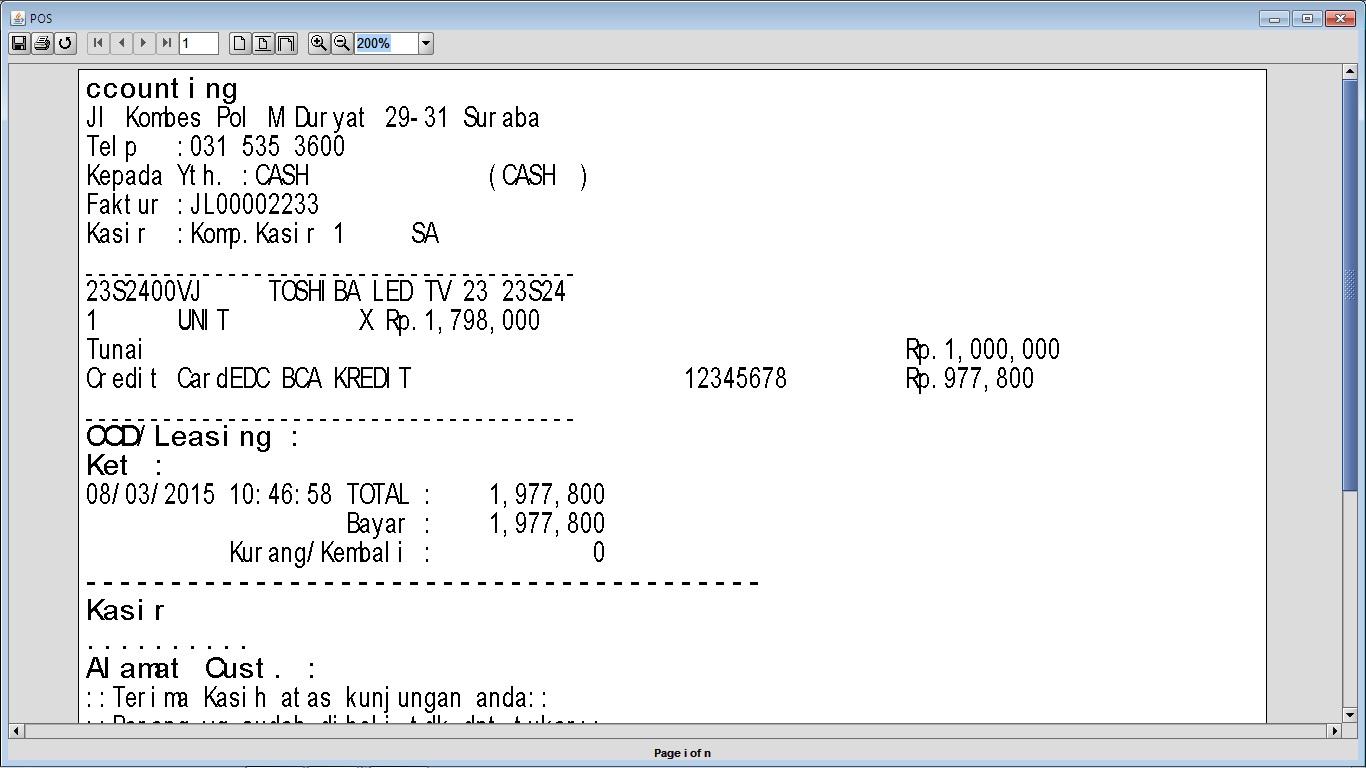 Cara Setting Tampilkan Type Pembayaran pada Nota POS di BeeAccounting