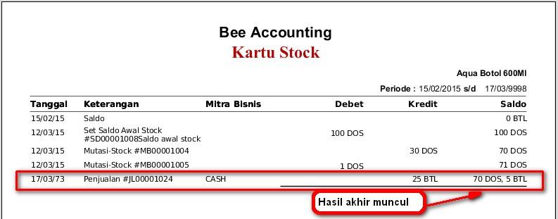 Solusi Lihat Stock Dan Kartu Stock Tidak Sama