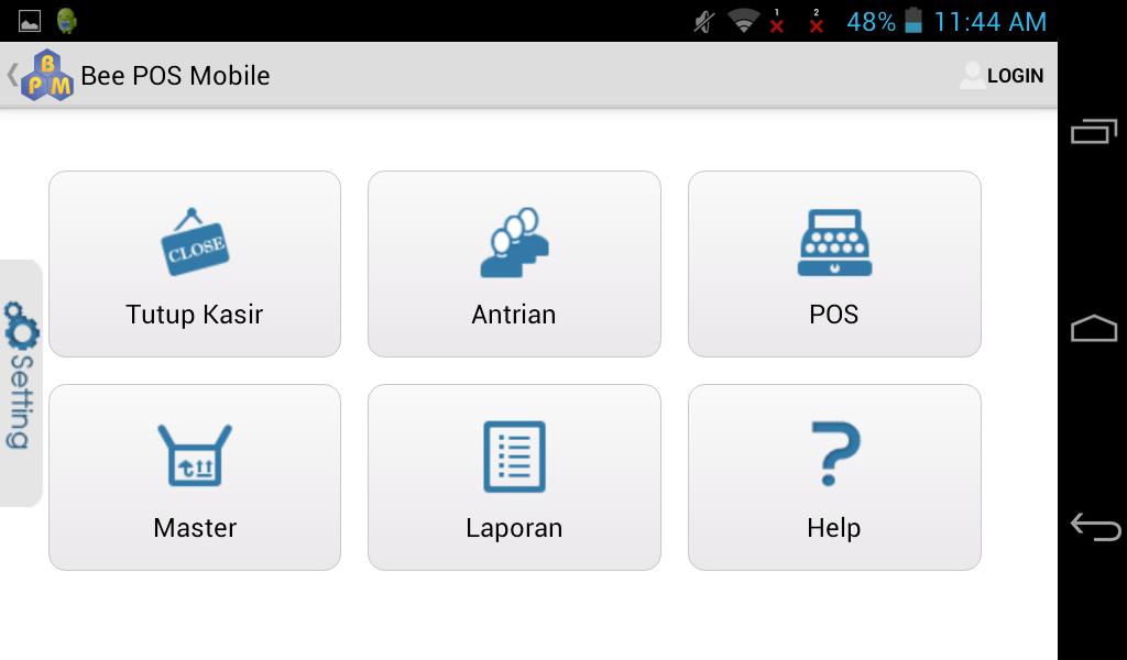 Spesifikasi Yang Diperlukan Bee POS Mobile Android (BPM)