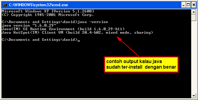 Cek Kondisi & Versi Aplikasi Java