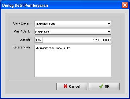 Cara Input Biaya Administrasi Bank