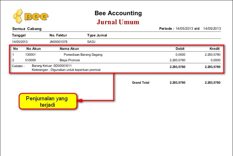 Cara Input Penggunaan/Pengeluaran Barang untuk Promosi di BeeAccounting
