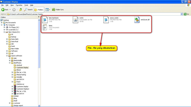 Setting Customer Display Bee PResto di Windows