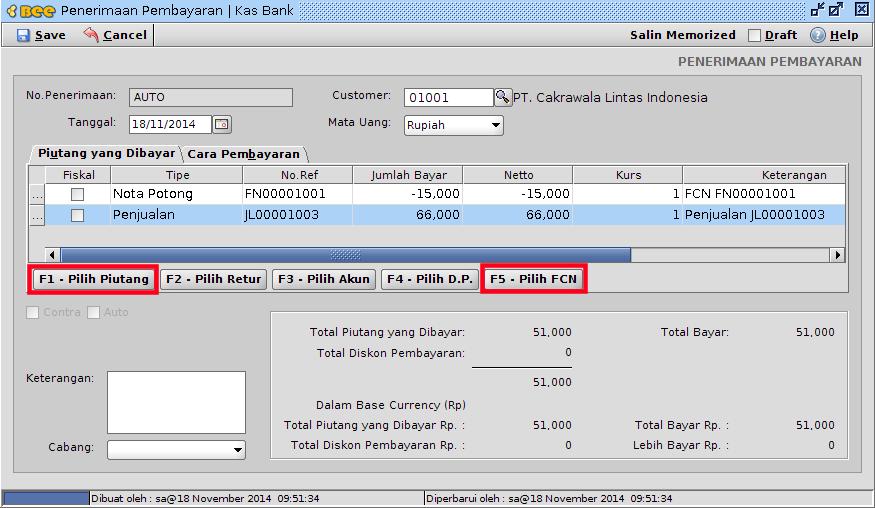 Retur Penjualan Tanpa Nota Invoice