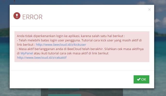 Kick User Pengguna Beecloud