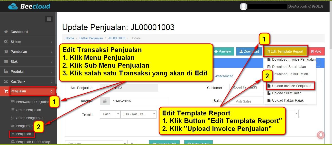 Cara Merubah Ukuran Invoice Penjualan A5