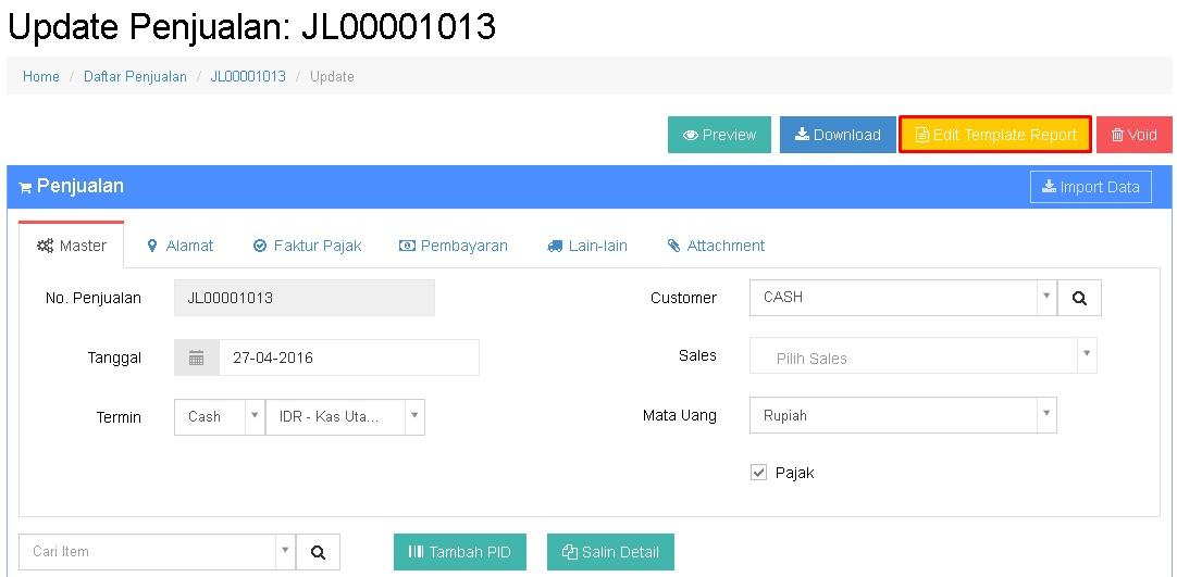 Cara Edit Desain Template Invoice Beecloud