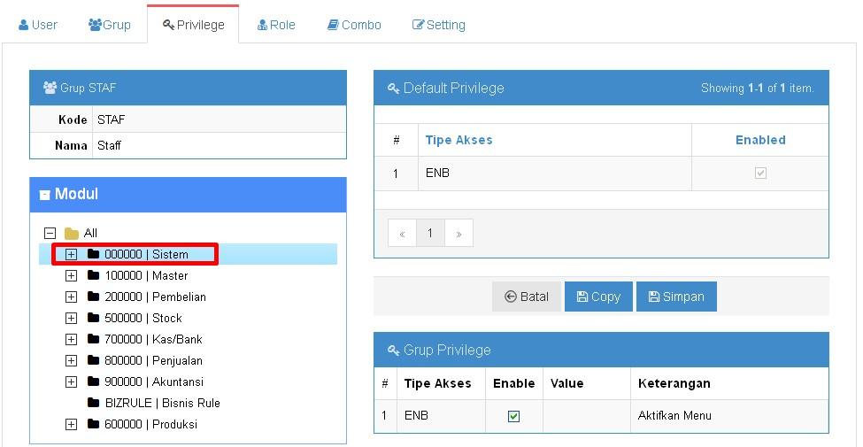 Cara input Grup_Privilige_dan_Role