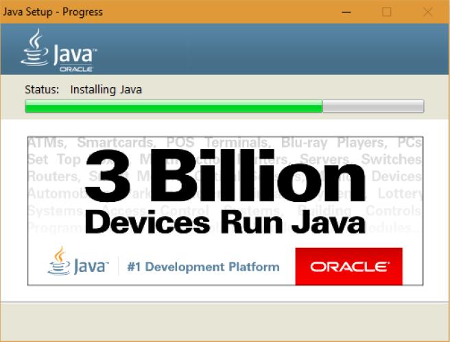 Proses install Java