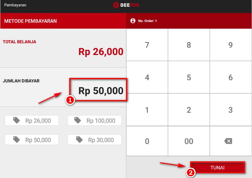 Input Transaksi Penjualan Beepos Mobile