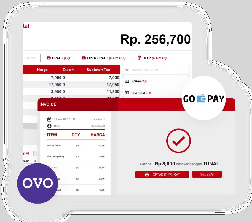 Software Kasir Multi Payment OVO Gojek Beepos
