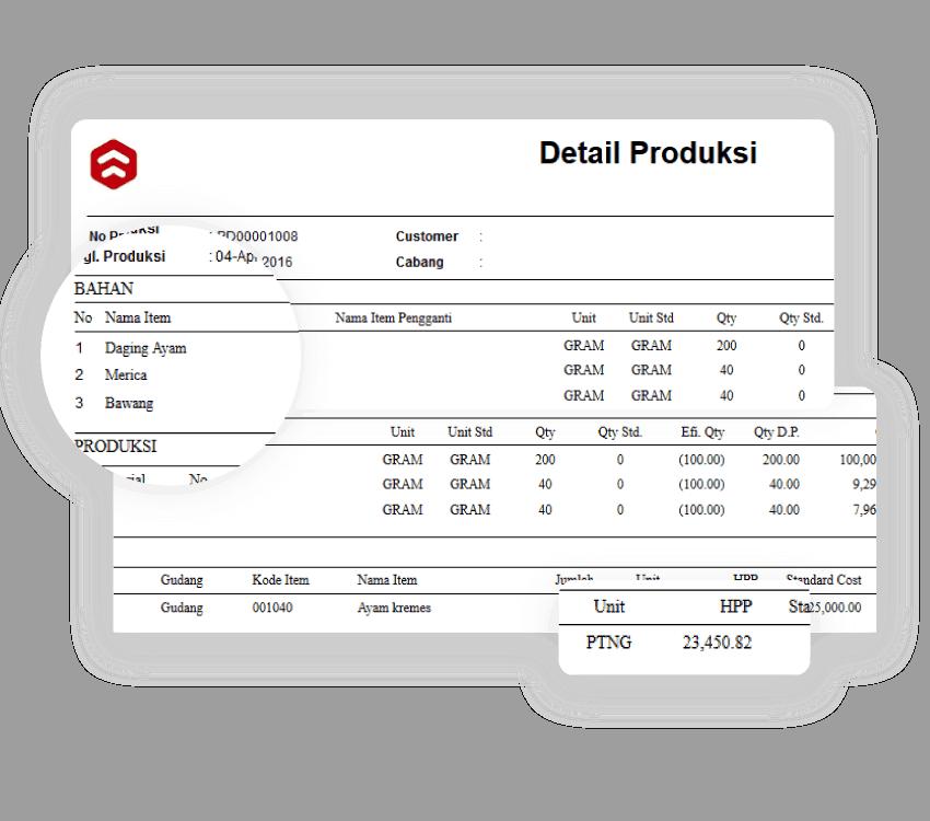 Software Kasir Produksi HPP Kalkulasi Gambar