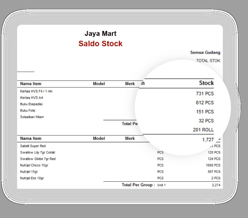 Software Penjualan Saldo Stok Gambar