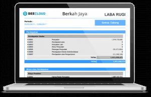 Software Akuntansi Online Tampilan Laporan Laba Rugi