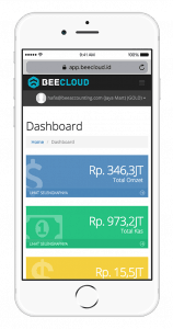 Software Akuntansi Online Tampilan Mobile Dashboard