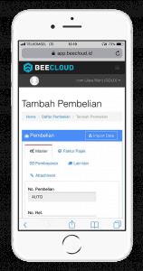 Software Akuntansi Online Tampilan Transaksi Mobile