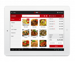 Software Kasir Beepos Mobile Tampilan Menu