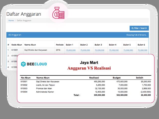 Gambar Software Akuntansi Online Anggaran Realisasi