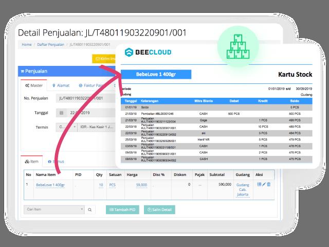 Gambar Software Akuntansi Online Penjualan Otomatis Potong Stok