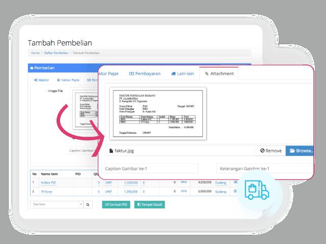 Gambar Software Akuntansi Online Bukti Nota Pembelian