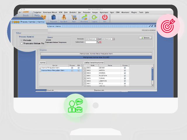 Gambar Software Akuntansi Custom Plugin Komisi Salesman