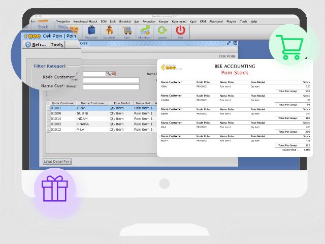 Gambar Software Akuntansi Custom Plugin Point Membership