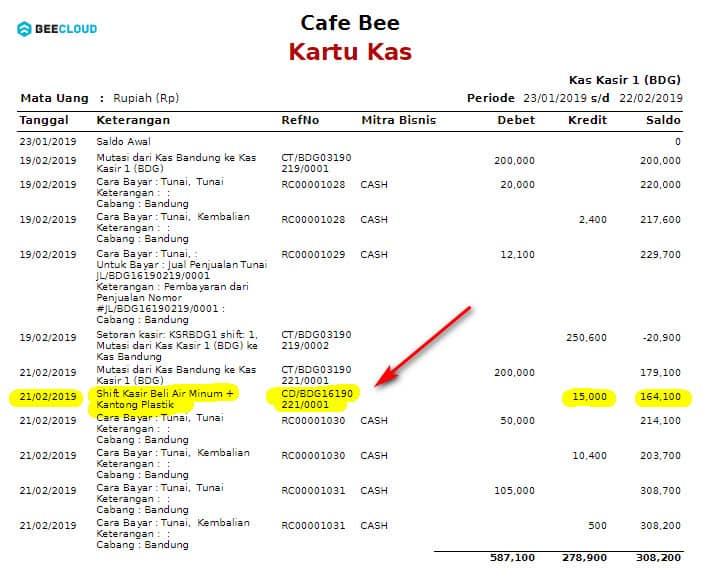 Input Pengeluaran Beepos Desktop