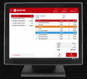 Screenshot Software Restoran Detail Order