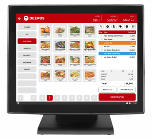 Screenshot Software Restoran Order Menu