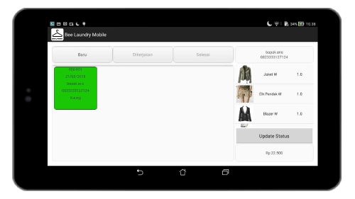 Detail Status Laundry Mesin Kasir Laundry di Android Screenshot