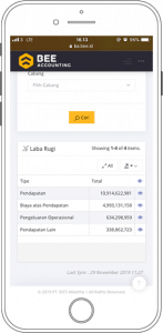 Screenshot Piutang Laporan Laba Rugi BA Dashboard di Hape