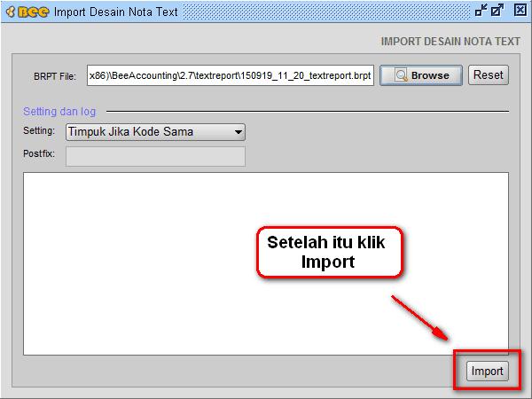Plugin Import Export Text Report Desain Laporan