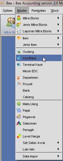 Input Master Kas/Bank
