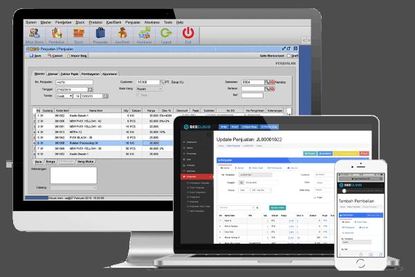 Tampilan Software Distributor