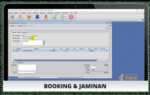 Tampilan Booking - Software Rental