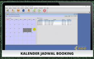 Software Rental - Screenshot Kalender Jadwal Booking