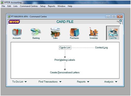Screenshot Aplikasi Akunting Myob