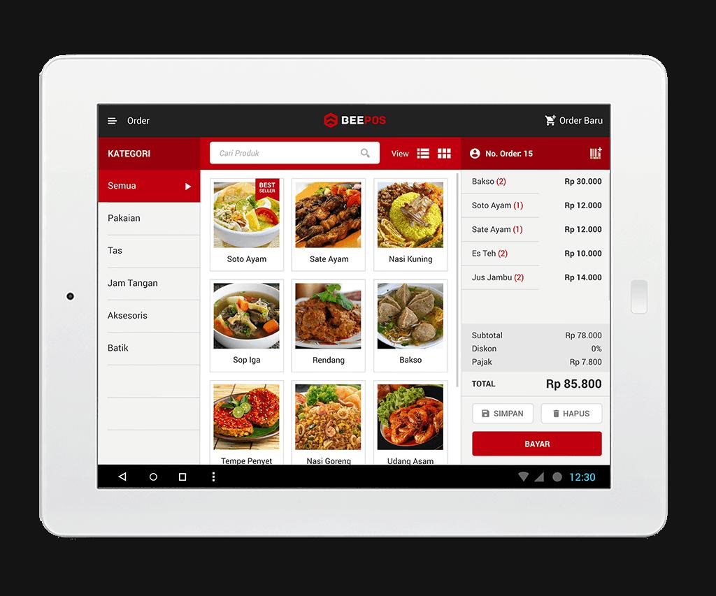 Beepos - Tampilan Aplikasi Kasir di Android