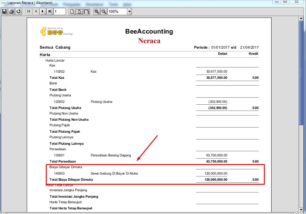 Cara bayar sewa dimuka hingga menjadi biaya bulanan pada laporan laba/rugi