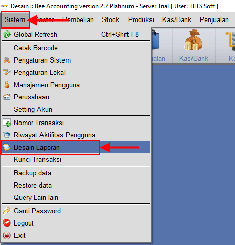 Setting Panjang Digit Desimal Nota Text Report BeeAccounting