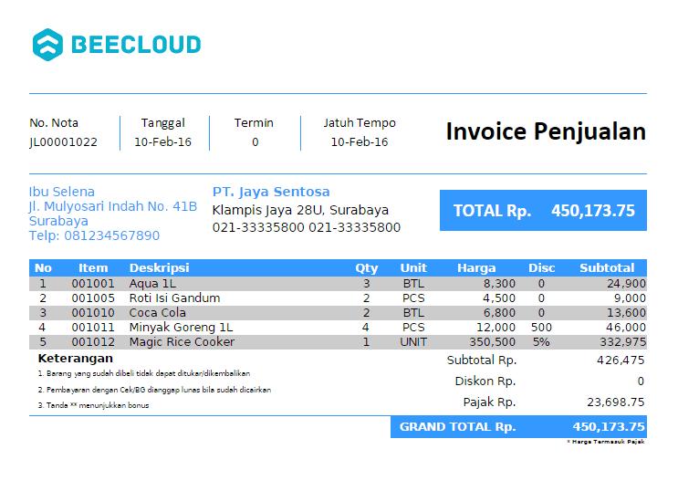 software faktur penjualan