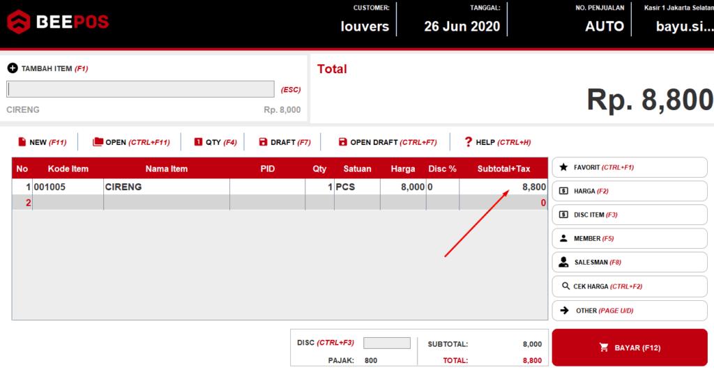 Buat Member Otomatis Kena Pajak/PPN Beepos Desktop