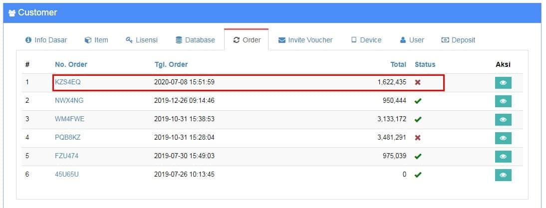 Konfirmasi Pembayaran - Order Beecloud