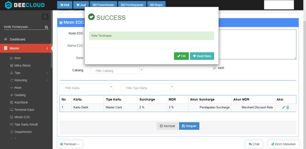 Setting Master Mesin EDC Pada Beecloud (Khusus pengguna Beepos)