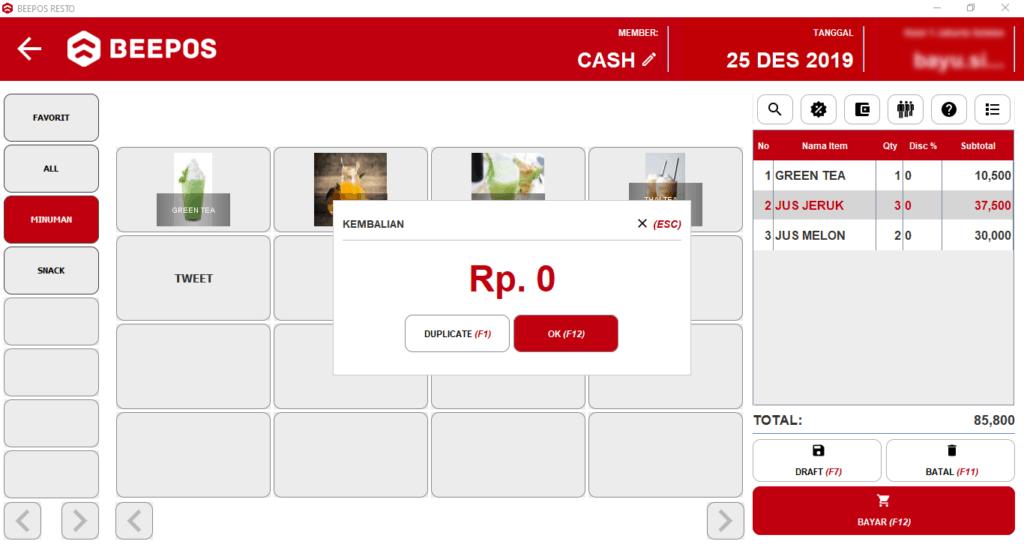 Pembayaran Multi Payment pada Beepos Resto