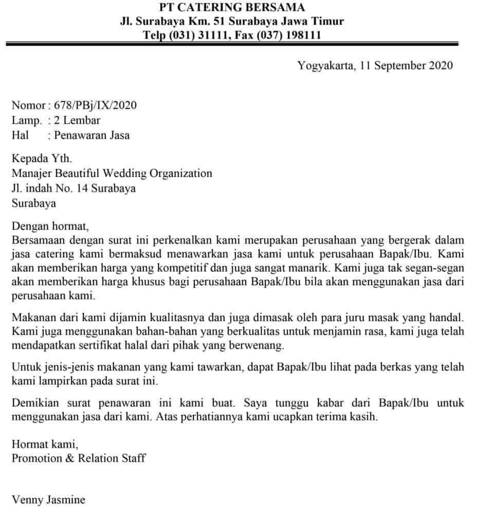 Surat Penawaran Perkenalan Jasa
