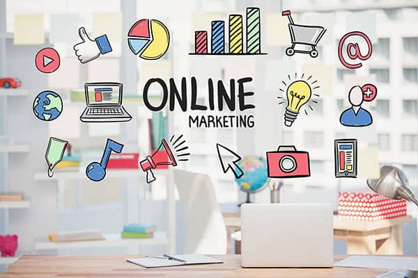 Ilustrasi Promosi Online Marketing