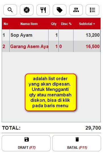 Gb 5. Tampilan List Order