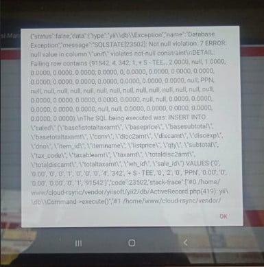 Gb 3. Tampilan Lengkap Notif gagal Upload