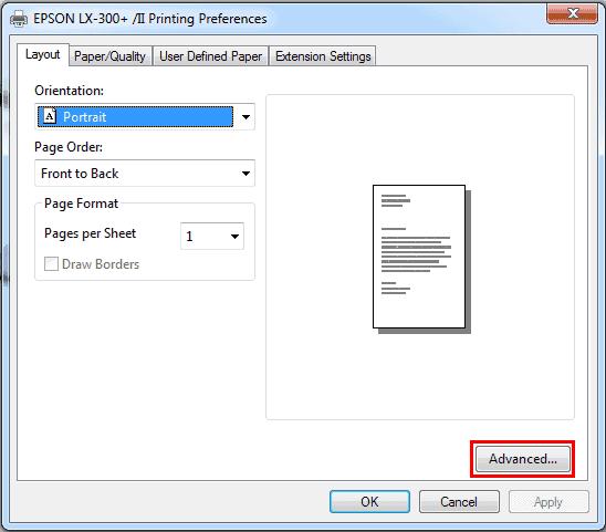 Setting DPI (Dots Per Inch) Dot Matrix Printer